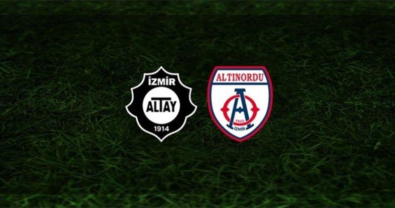Altay - Altınordu maçı saat kaçta ve hangi kanalda canlı?