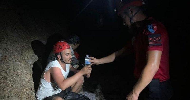 Fethiye'de yürüyüşe çıktılar, 4 saat sonra bulundular