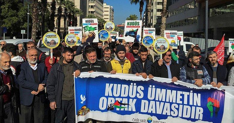 ABD'nin sözde barış planı İzmir, Manisa ve Uşak'ta protesto edildi