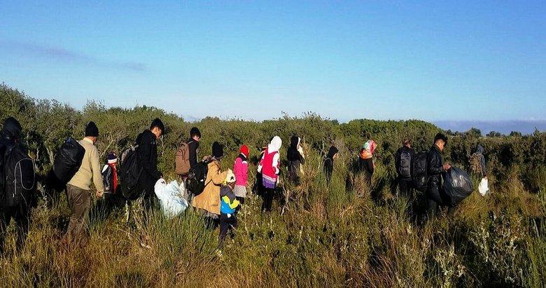 Çanakkale'de 180 düzensiz göçmen yakalandı