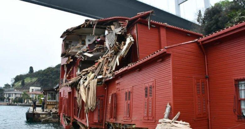 İşte İstanbul Boğazı'nda geminin çarptığı Hekimbaşı Salih Efendi Yalısı'nın son hali!