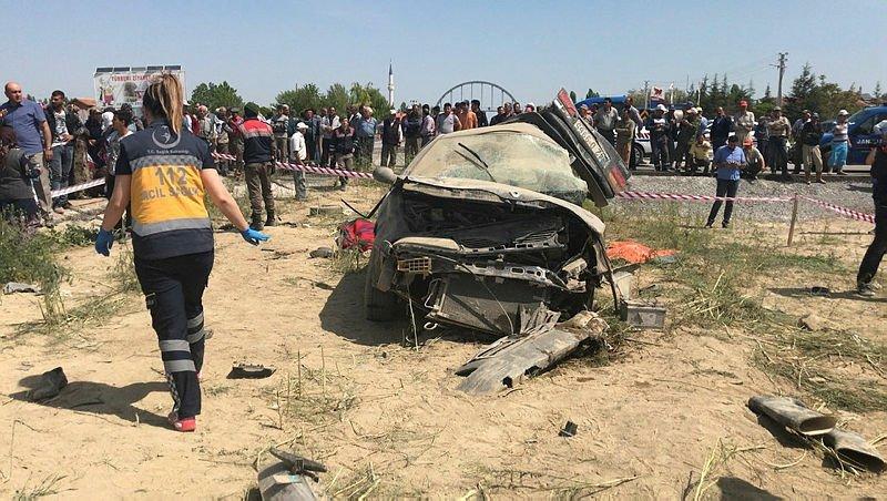 Konya'da katliam gibi kaza