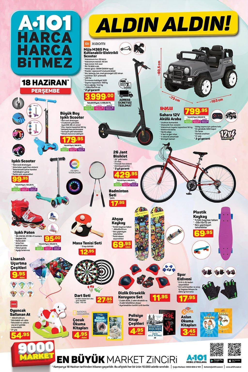 A101 aktüel ürünler kataloğu 18 Haziran Perşembe