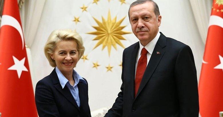 Başkan Erdoğan, Ursula Von der Leyen ile görüştü