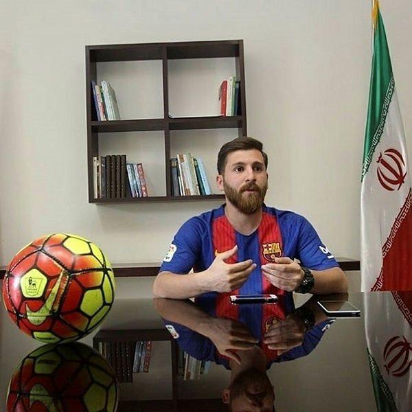 İranlı sahte Lionel Messi herkesi şok etti! Rıza Paratesh'e büyük şok