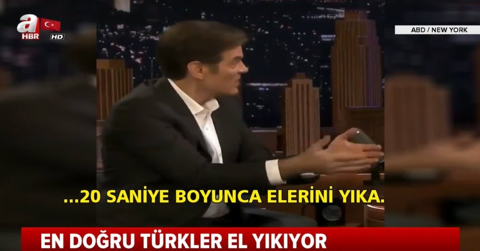 Dünyaca ünlü doktor Mehmet Öz ABD'ye Türk tipi el yıkamayı öğretti