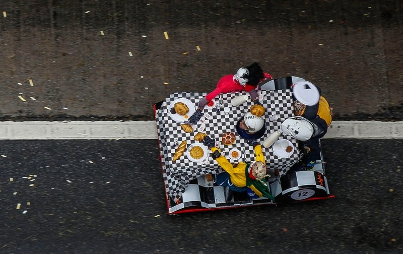 Brezilya'da gerçekleşen Soap Box Race'den renkli görüntüler