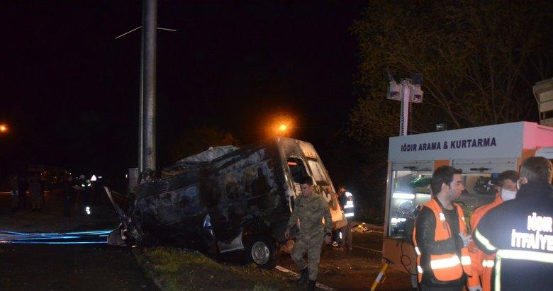 Iğdır'da feci kaza
