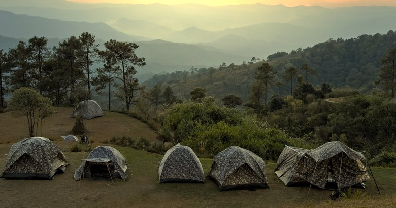 Çocuklarla çadırda bir gece