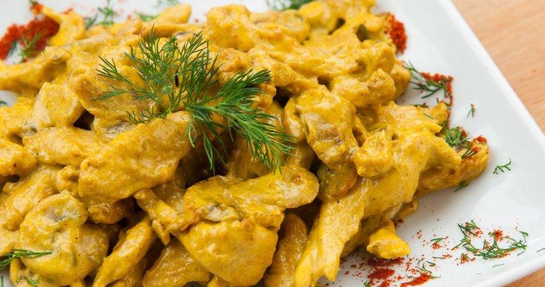 Pratik ve lezzetli köri soslu tavuk yapılışı!