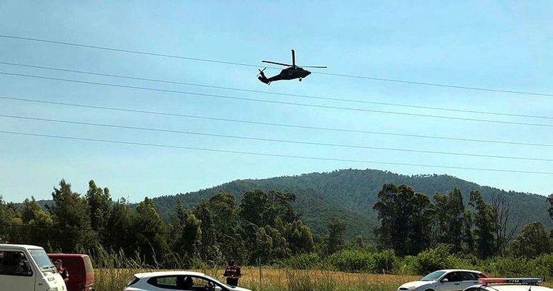 Jandarma'dan Marmaris'te trafik havadan denetimi