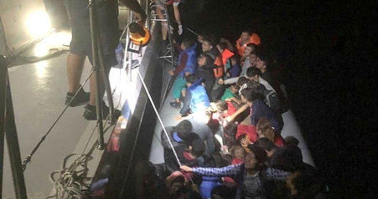 Aydın Kuşadası'nda 1 günde 129 kaçak göçmen yakalandı