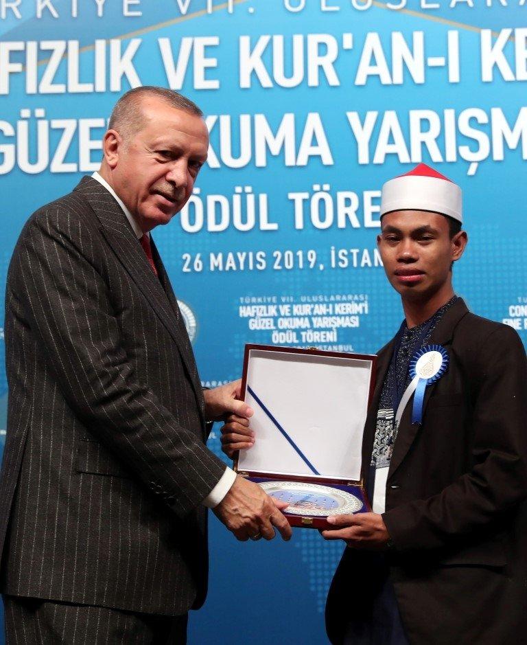 Başkan Erdoğan, Hafızlık ve Kur'an-ı Kerim'i Güzel Okuma Yarışma ödül törenine katıldı