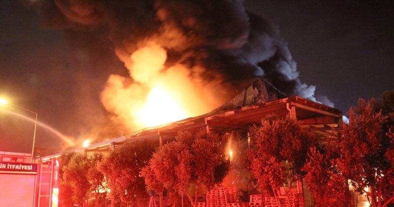 İzmir'deki büyük fabrika yangını kontrol altında