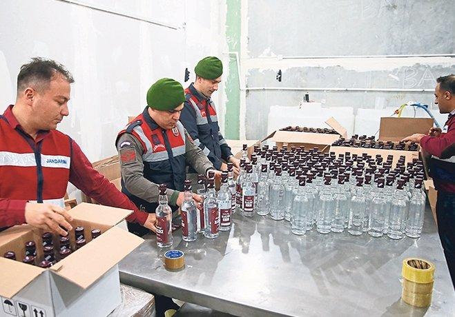 Sahte içki fabrikası!