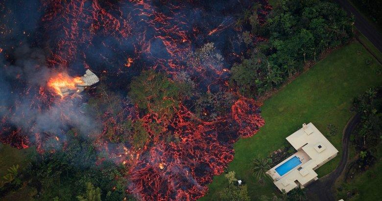 Hawaii'den dehşete düşüren görüntüler