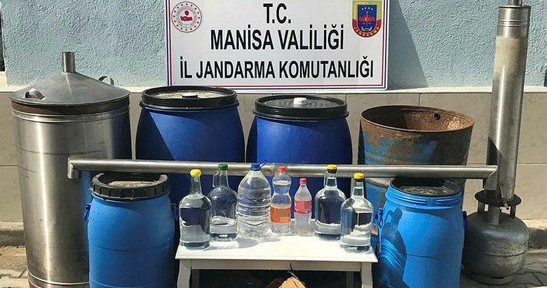 Manisa'da sahte alkol üretimine baskın
