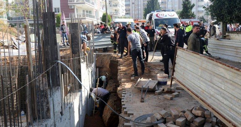 Aydın'da inşaatta beline kadar toprak altında kalan işçi kurtarıldı