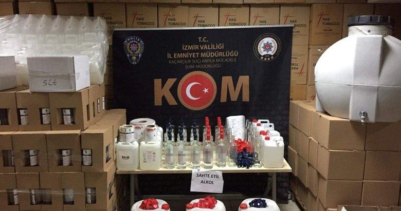 Karabağlar'da sahte alkol operasyonu