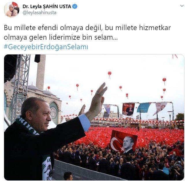 Başkan Erdoğan'dan #GeceyebirErdoğanSelamı paylaşımlarına cevap: Ve aleyküm selam