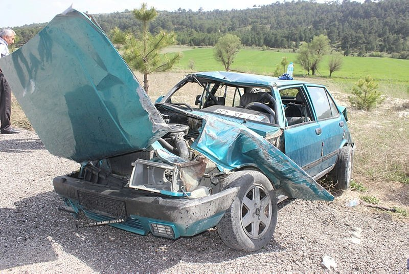 Kütahyada korkunç kaza