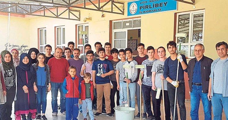 Liselilerden köy okulundaki kardeşlerine boya jesti