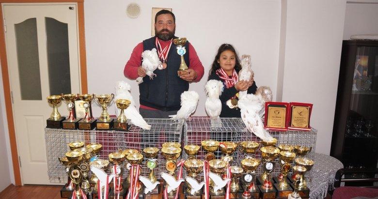 Denizli'de 30 yıldır Türkiye'nin şampiyon kuşlarını yetiştiriyor