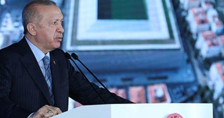 Cumhurbaşkanı Erdoğan, video konferans yöntemiyle Gürsel Aksel Stadı'nın açılışına katıldı