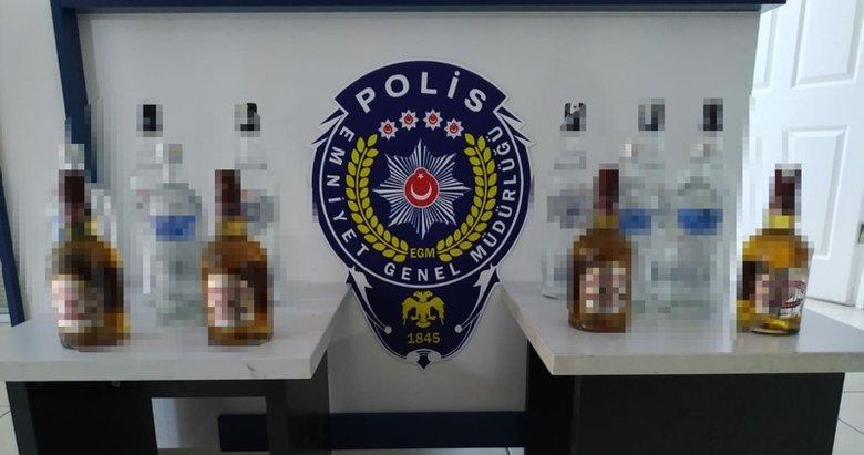 İzmir Foça'da sahte içki skandalı! İthal içkilerden sökülen bandrolleri yapıştırmışlar