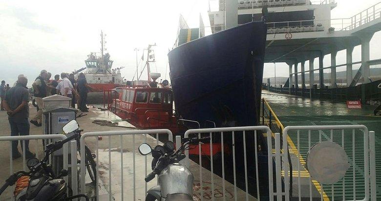 Çanakkale'de fırtına iskeleye bağlı motorun halatını kopardı