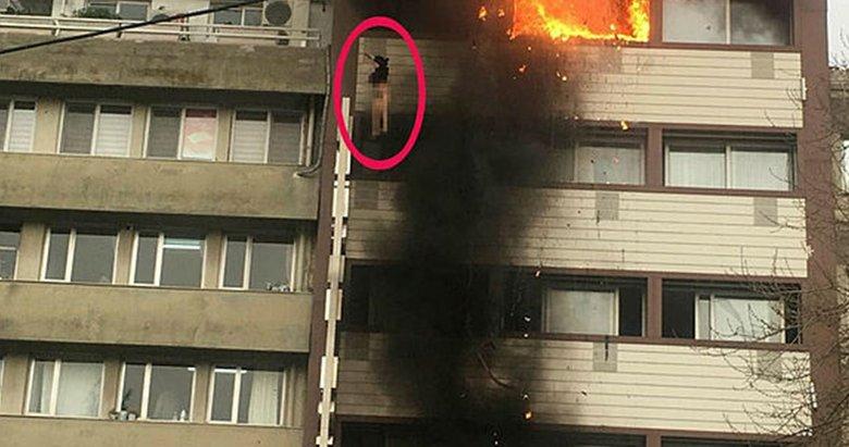 Otel yangınında camdan düşen kadın tedavi altında