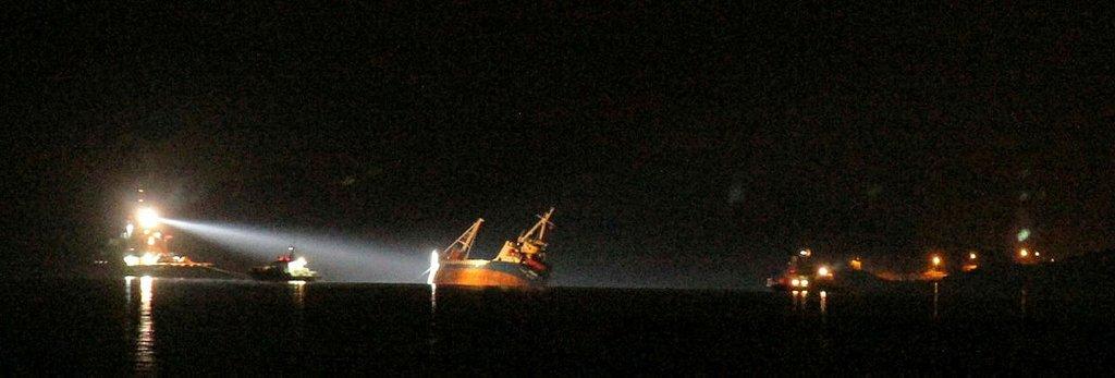 Ege'de gemi battı