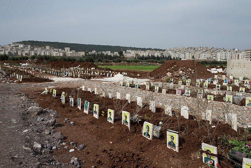 Terörist mezarları bulundu