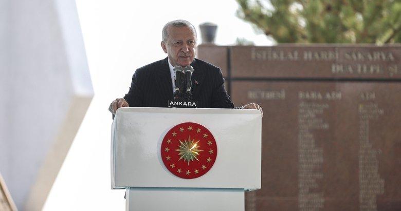 Başkan Erdoğan'dan Sakarya Zaferi'nin yıldönümünde 2023 mesajı