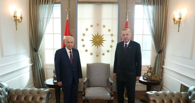 MHP Genel Başkanı Devlet Bahçeli'den, Başkan Erdoğan'a çınar fidanı hediyesi