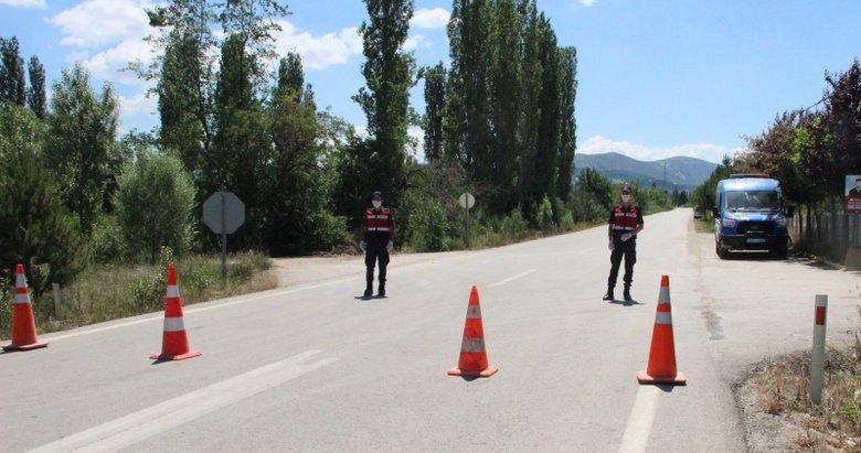 Simav'da mahalle karantinası