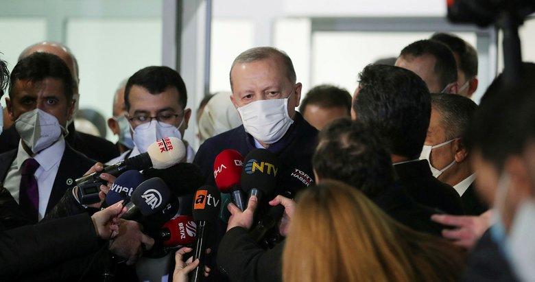Son dakika: Başkan Erdoğan aşı sonrası konuştu: Siyasi liderler teşvik ederlerse isabetli olur