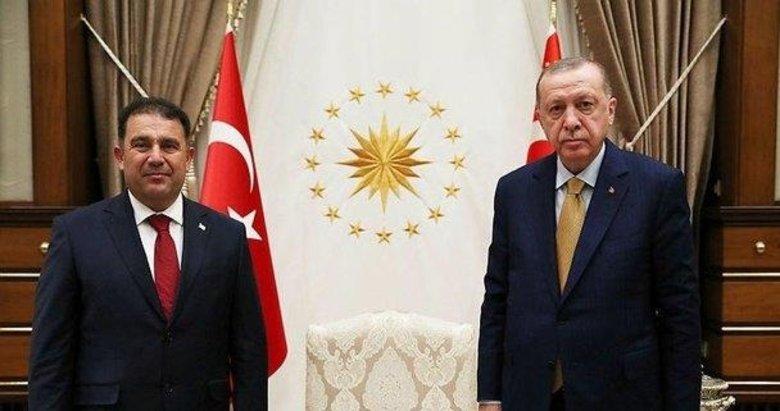 Başkan Erdoğan KKTC Başbakanı Saner'i kabul etti