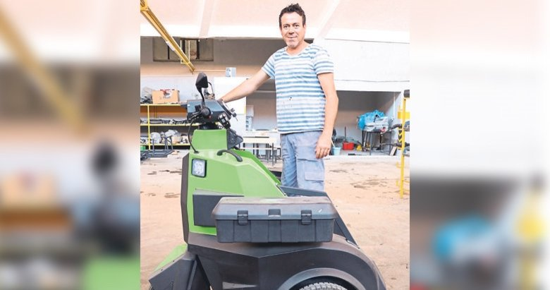 Güvenlik sektörü için elektrikli araç tasarladı