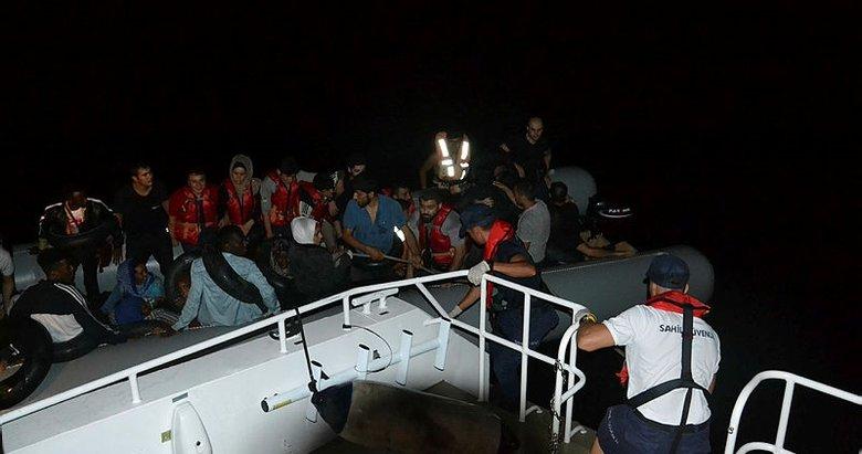 Aydın Kuşadası açıklarında 38 kaçak göçmen yakalandı
