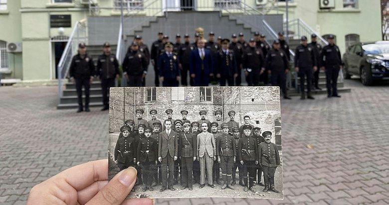 Tire'de 88 yıl önce çekilen fotoğraf yeniden canlandırıldı