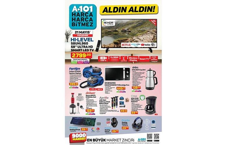 21 Mayıs Perşembe A101 aktüel ürünler kataloğu