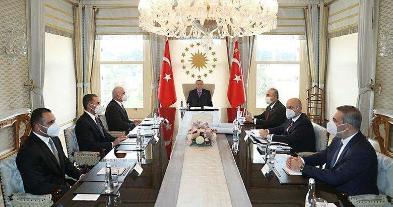 Başkan Erdoğan Azerbaycan Başbakan Yardımcısı Şahin Mustafayev'i kabul etti