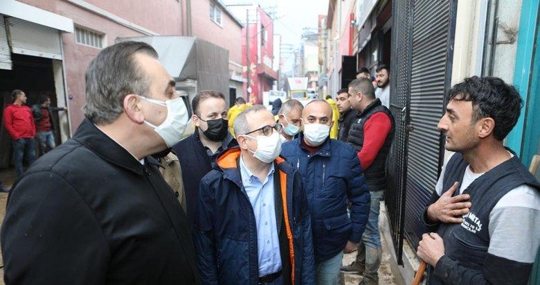 AK Partili heyet sel mağdurları için sahada