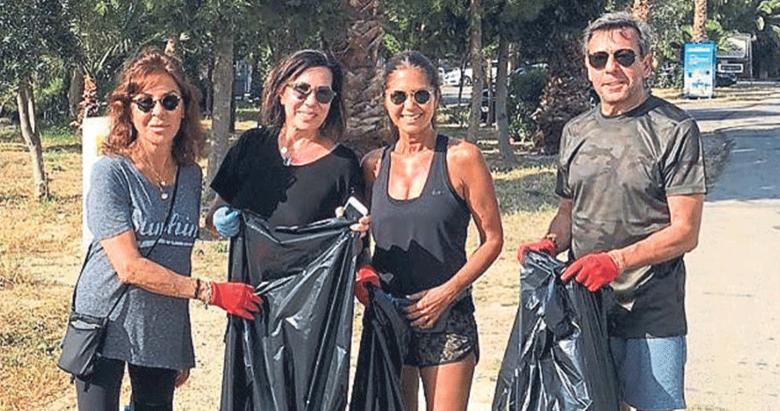 Sosyete, Alaçatı'nın çöplerini topladı