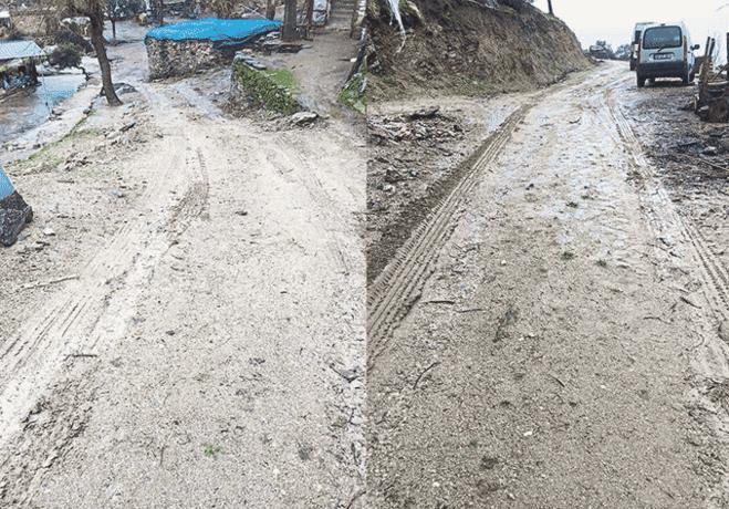 Tatarmemişler'in çamurlu yol çilesi